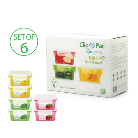 ชุดกล่องถนอมอาหาร รุ่น Clippac Organic S6-197-C