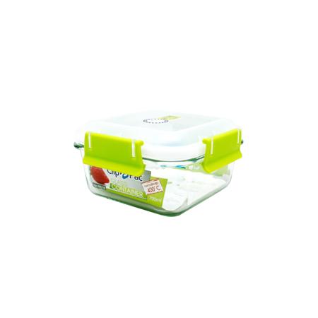 กล่องถนอมอาหาร แบบแก้ว รุ่น Clippac Glass 6616