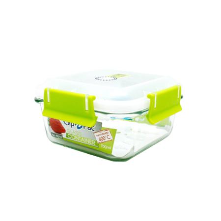กล่องถนอมอาหาร แบบแก้ว รุ่น Clippac Glass 6618